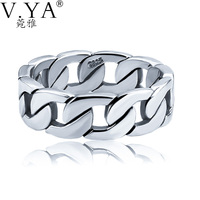 Big Size 925 Sterling Silver Rings For Men Fashion Design Man Ring Thai Silver Jewelry For