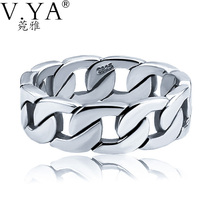 100% Pure Silver 925 Sterling Silver Rings for Men Birthday Party Gifts Man Ring Thai Silver Jewelry for Male Hot Sale