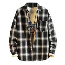 Checkered Men Shirt 2019 Spring Autumn New Long Sleeve Flannel Plaid S