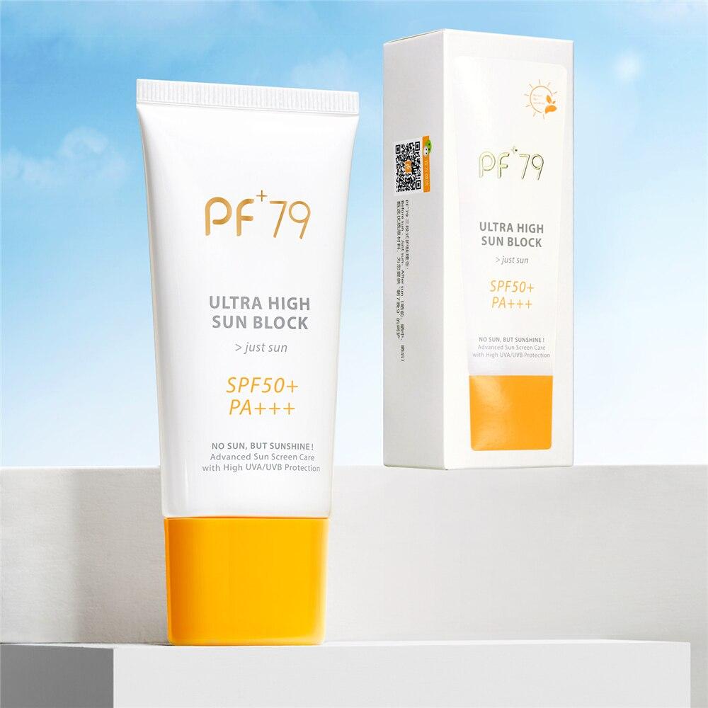 PF79 Facial Body Sunscreen Cream Beauty Skin Care SPF 50+ Free Radical Scavenger Anti Oxidant UVA/UVB Britening Anti Sun Day