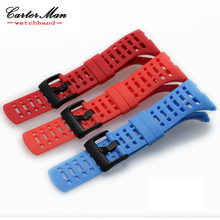 Hot Sale For Suunto Ambit 3 Peak / Ambit 2 Drop watchband Luxury Rubber Watch Replacement Band Strap + black PVD clasp  + tool