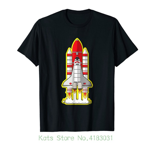 Rocket Space Shuttle Houston Clutch City T Shirt Printed Summer
