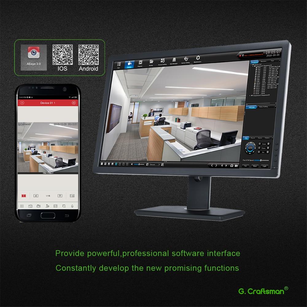 8ch POE 5MP NVR H.265 grabadora de vídeo en red NVR para 16ch 1 HDD 24/7 cámara de grabación IP Onvif 2,6 P2P sistema G Ccraftsman - 5