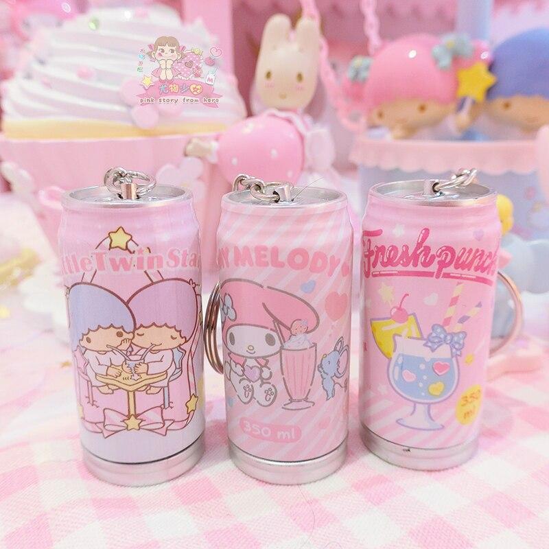 Kawaii Little Twin Stars My Melody Pop-top Can Keychain 1