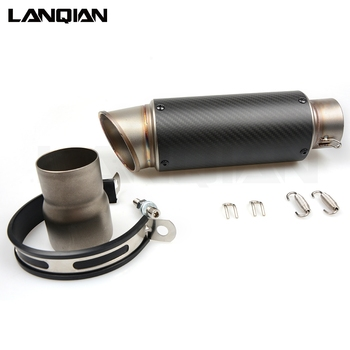 Universal 51mm Exhaust PIPE Motorcycle Muffler Pipe Laser Marking Sticker Stainless Carbon Fiber
