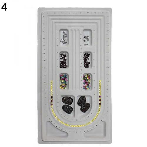לוח חרוז צמיד ואגלי מגש שרשרת עיצוב DIY קרפט תכשיטי מד פנל