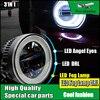 Car Styling LED Daytime Running Light Fog Light For Mitsubishi Outlander 2006 2015 LED Angel Eyes