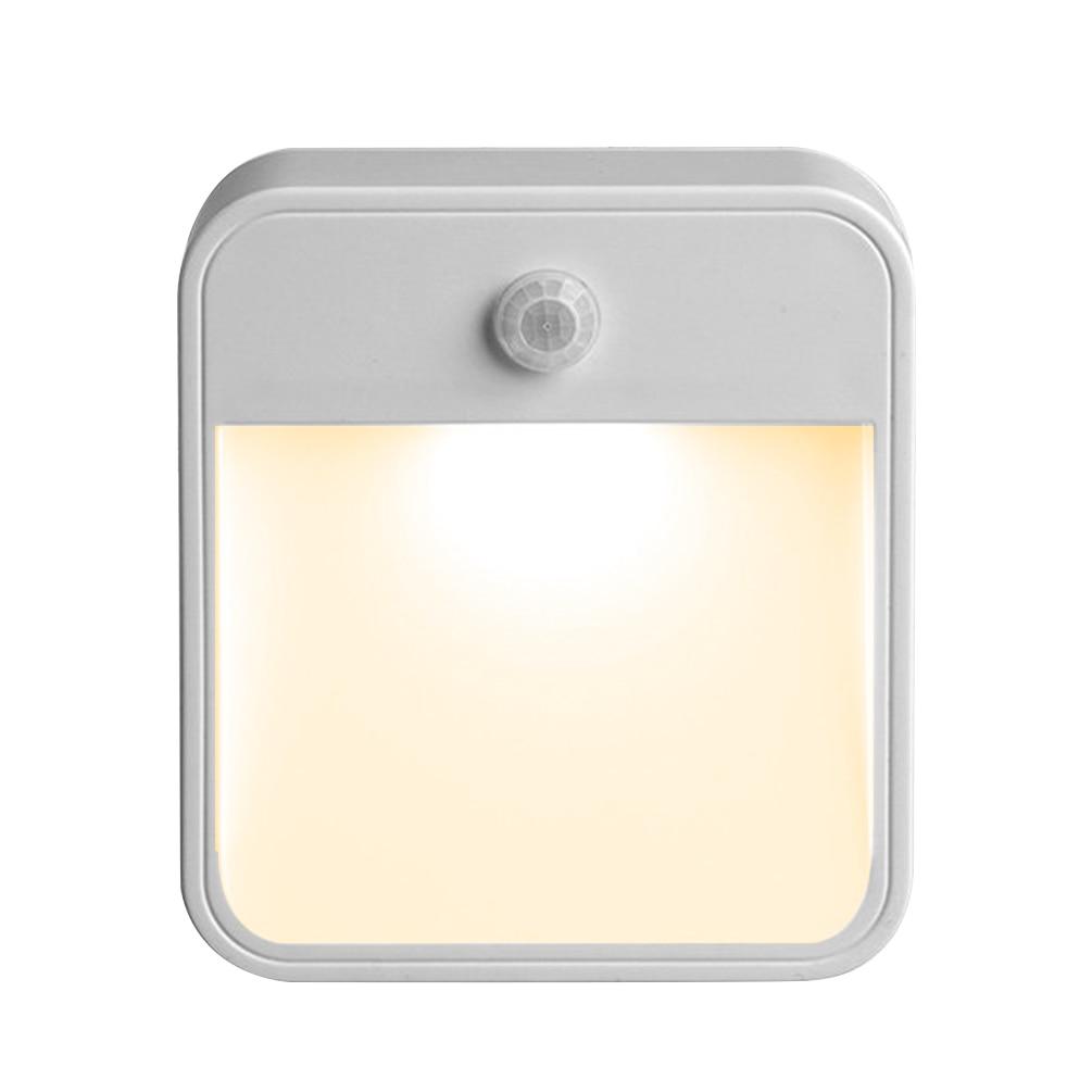 LEDGLE Motion Sensor Night Light Battery Powered LED Lamp Efficient Bedside Lamps, Warm White, Wireless Design wireless motion vibration sensor night light 6 led light tube battery powered pure white lighting for wardrobe corridor lamp