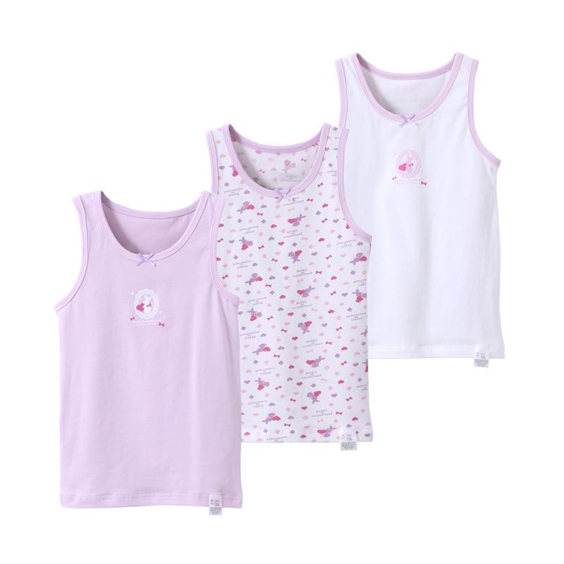 VIDMID Girls boys tanks tops girls cotton Camisoles vests girl boy candy color undershirt kids underwear Tanks Camisoles 7010 08 2