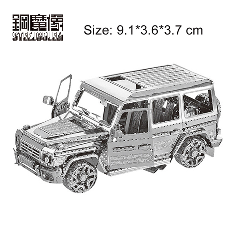 SUV Off-Road Vehicle 3D Metal Puzzles Laser Cut Model DIY Adult Children Birthday Intellectual Educational Jigsaw Toys/juguetes