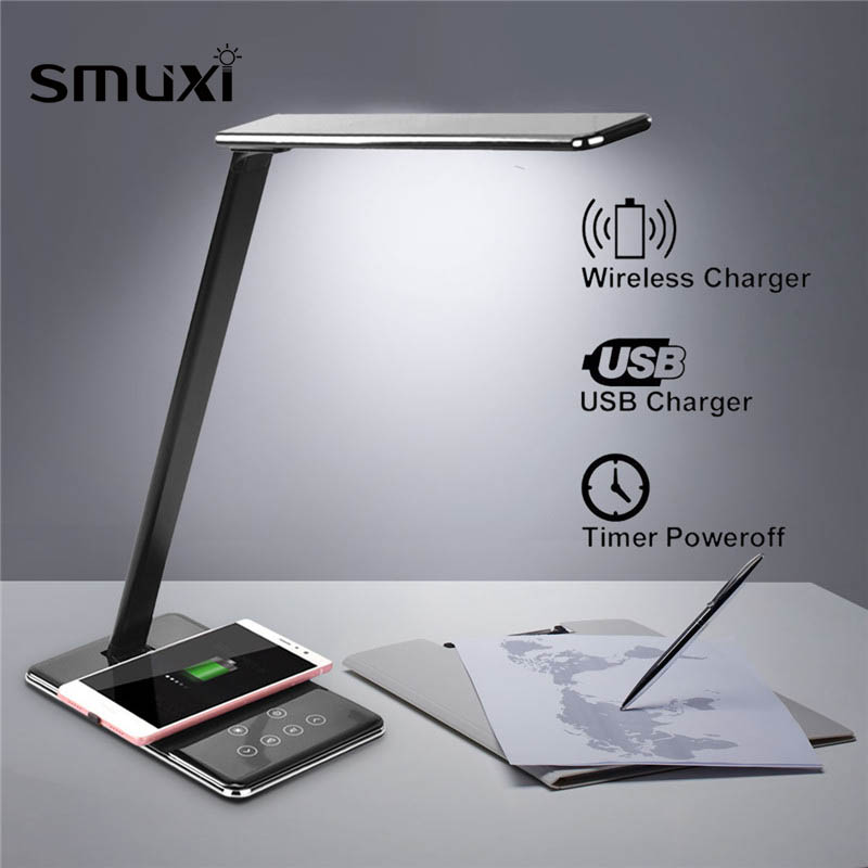 Multifunction Table Desk LED Lamp Qi font b Wireless b font Charging Pad Cell Phone font