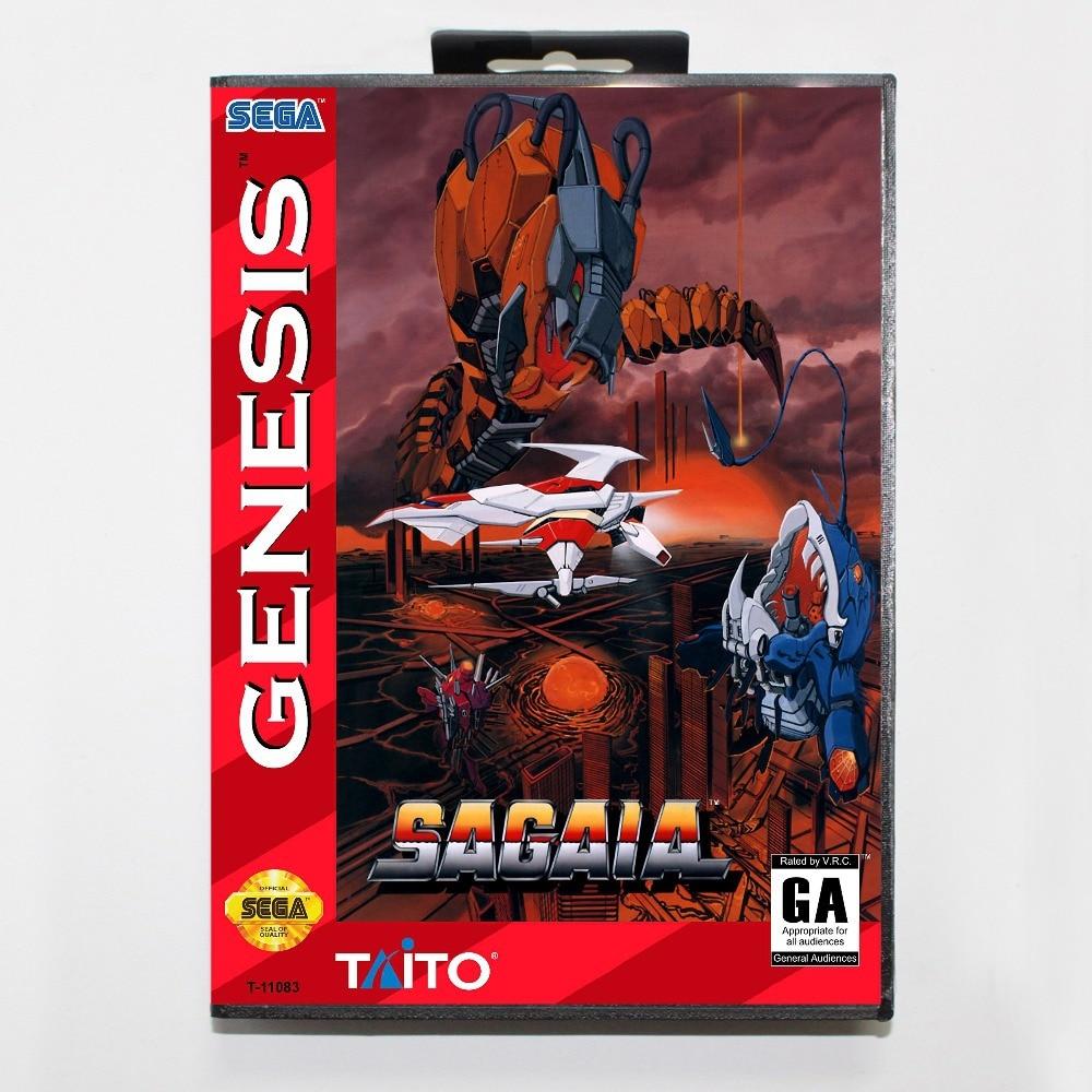 Sagaia (aka Darius II) Game Cartridge 16 bit MD Game Card With Retail Box For Sega Mega Drive For Genesis