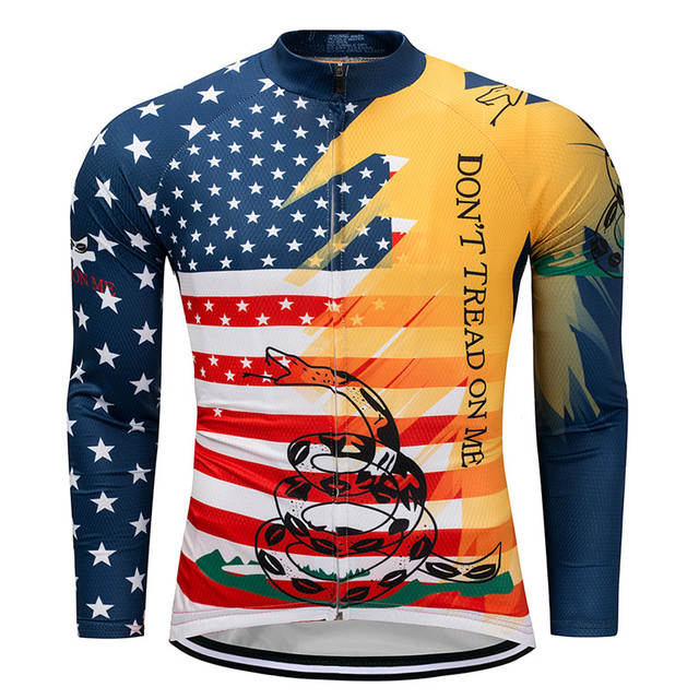 41359ac64 Weimostar pro team USA Autumn Long Sleeve Cycling Jersey Men Breathable mtb  Bike Jersey 100% Polyester Bicycle Cycling Clothing