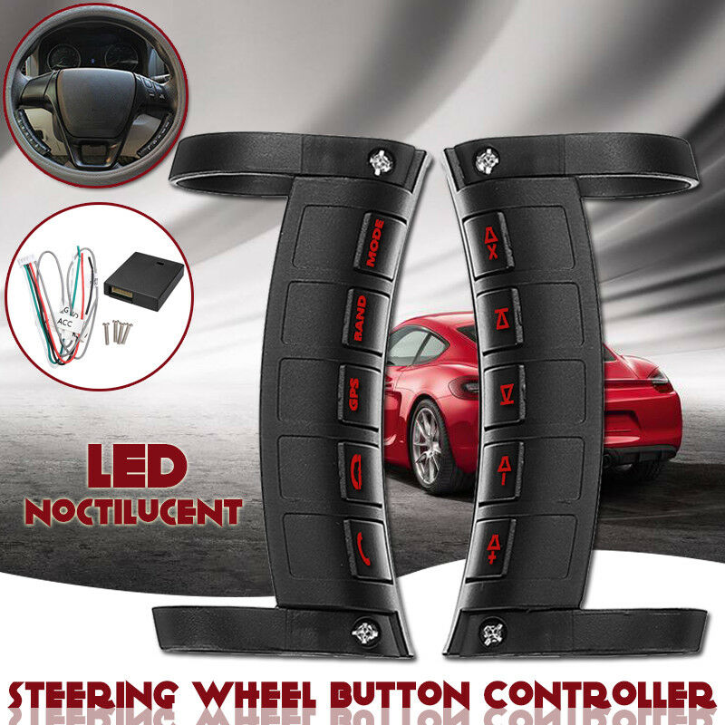Remote Control Car Steering Wheel Button Remote Control Universal Bluetooth DVD Navigation Button Remote Controller LED Wireless
