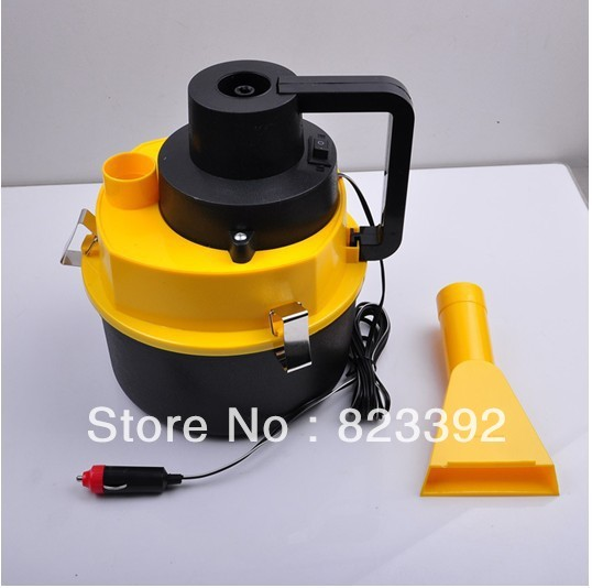 2013 new portable car vacuum cleaner collector filling air compressor free shipping