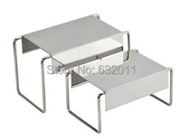 Mirror Stainless Steel Shoes Holder Support Keeper Metal Shoes Showing Display Rack Stand