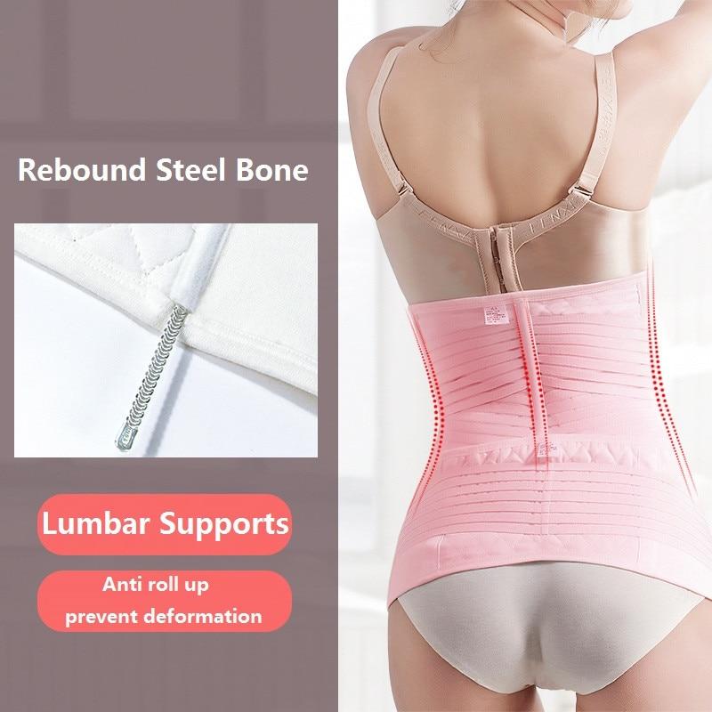 Image 3 - NINGMI Slim Waist Trainer 2 in 1 Abdomen Pelvis Belt Women Pregnancy Corset Postpartum Recovery Bandage Body Shaper Back SupportWaist Cinchers   -