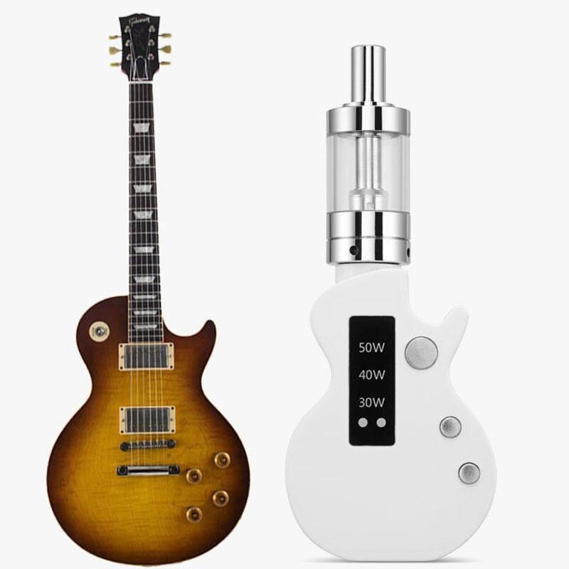 Guitare Mini Boîte Mod Vaporisateur Starter Kit Intégré 1200 mah Batterie 50 w 2 ml Réservoir Vaporisateur Électronique Cigarette Vaper kit
