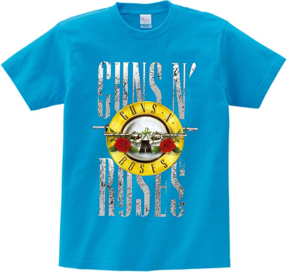 Guns N Roses T Shirt Kid 2021 T-shirt Pure Cotton Round Neck Baby Tshirt children's Infant Toddler Costume For boy and girl NN 3
