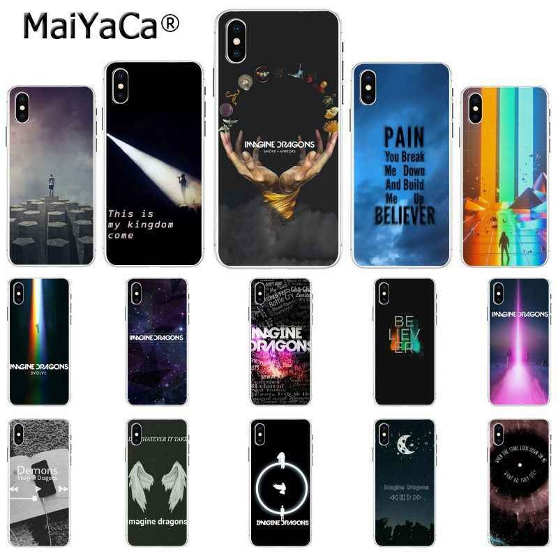 MaiYaCa imagine dragons noche música TPU suave funda silicona transparente de teléfono para Apple iPhone 8 7 6 6S Plus X XS X MAX 5 5S SE XR