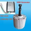 3 phase permanent magnet syncjronous generator 1000 watt 1KW 24 v wind ladegerät controller mit LED Wind Turbinen generator 24 v-in Alternative Energieerzeuger aus Heimwerkerbedarf bei