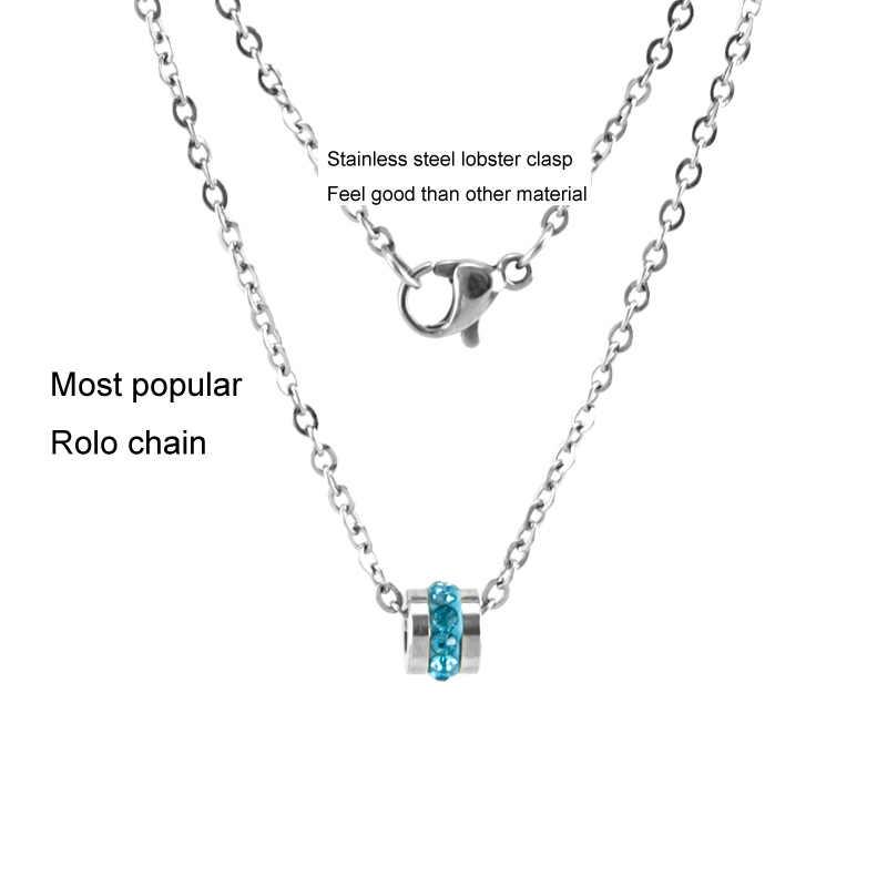 Risul nascita di pietra delle donne della collana Del Choker monili di fascini di modo rolo catene in acciaio inox fortunato kolye femminile Collane regalo