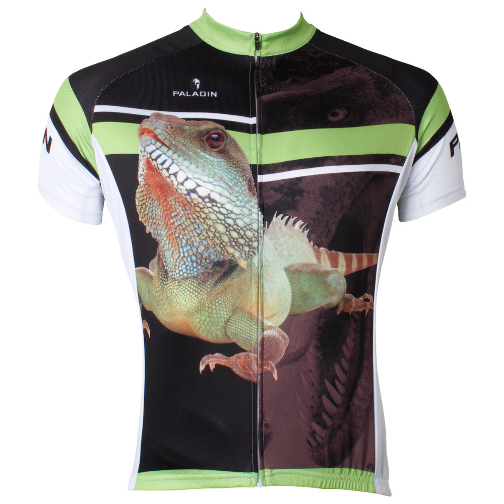 Free shipping 3D Realistic Chameleon Men Short Sleeve Cycling Jersey Polyester Quick Dry Cycling Clothing Size S M L XL XXL XXXL|Cycling Jerseys|Sports & Entertainment - title=
