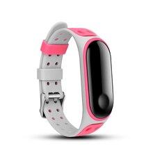 Силиконовые браслеты для Xiaomi Band 3 Fresh looks перфорированный браслет с пряжкой MiBand 3 nfc аксессуары заменить ремешок для спортивных часов