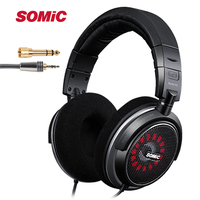 Original SOMIC V2 Professional DJ Monitor Headphone 45mmHD Stereo Foldable Music Headset with 3.5mm 6.3mm Jack for phone