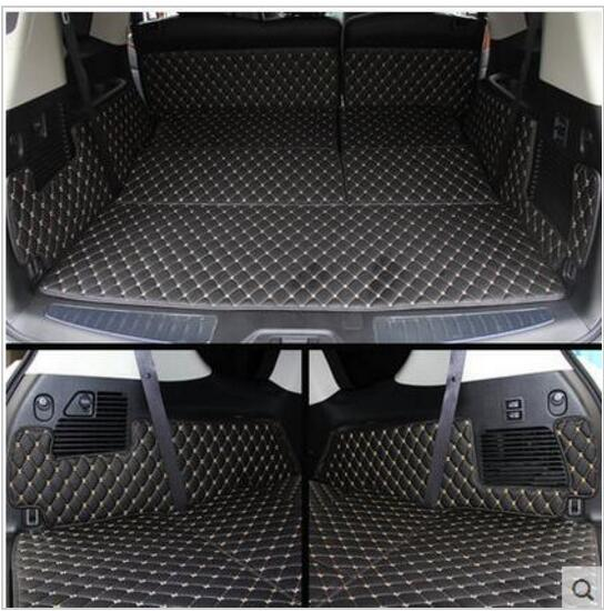 ( Car Travel ) Good! Special trunk mats for Nissan Patrol Y62 7seats 2017 2011 waterproof boot carpets cargo mat for Patrol 2016