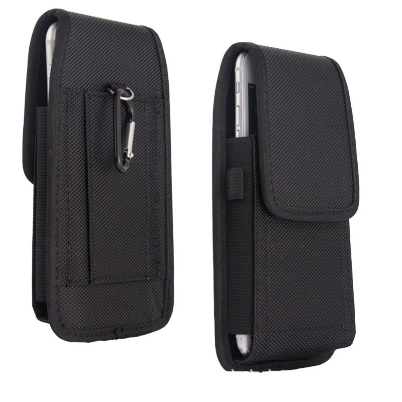 Casual Nylon Mobile Phone Waist Bag Hook Loop Holster Cellphone Pouch Cover For IPhone Samsung Xiaomi Huawei Accessories