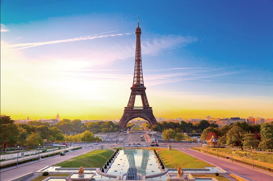 Laeacco Eiffel Tower City Buildings Scenic Photography Background Customized Photographic Backdrops For Photo Studio