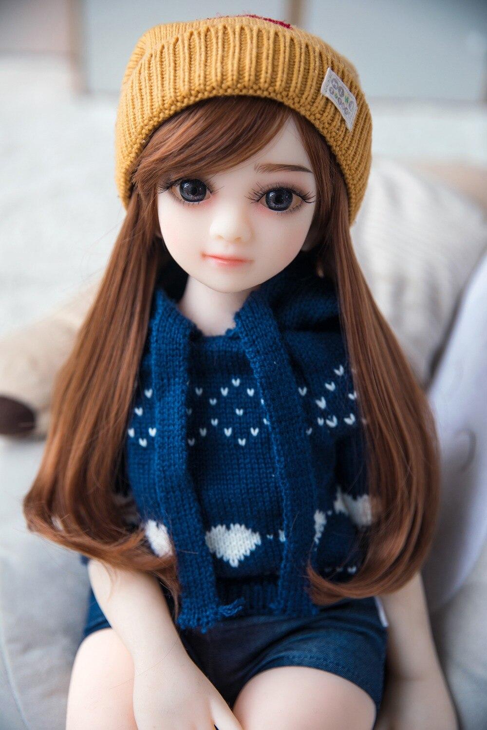 Sexy suave TPE muñeca de silicona 65 cm encantadora cabeza de Anime con vagina real juguetes para adultos para hombres