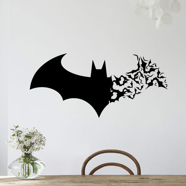 Creative Bat Graphic Removable Wall Sticker DIY Vinyl Decal Living - How to make vinyl decals at home