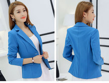 Women's Slim Blazer Coat Casual Jacket Long Sleeve One Button Suit