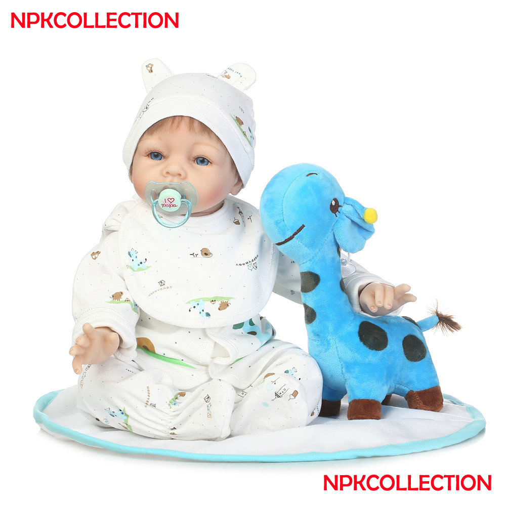 22 Inch Handmade Reborn silicone Babies toddlers Dolls realistic creative kids collectible girls boys play house toys22 Inch Handmade Reborn silicone Babies toddlers Dolls realistic creative kids collectible girls boys play house toys