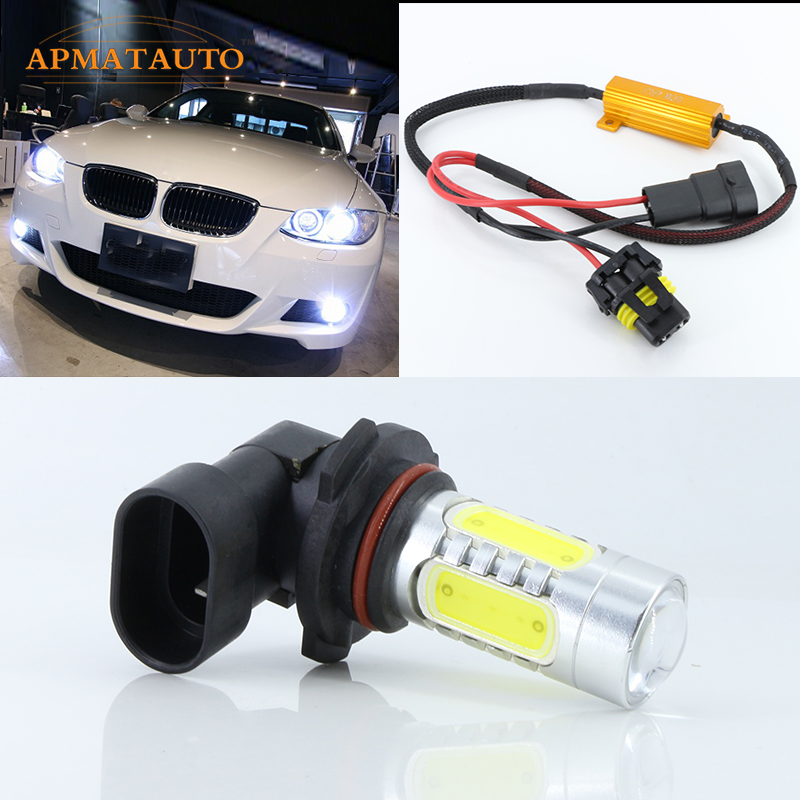 2 x Canbus 9006 HB4 for CREE Chips LED Projector Fog Driving Light Day Light No Error For BMW E60 525i 530i M5 6000K White free shipping cree white no obc 9006 led fog light bulb for bmw e60 bmw 5 series 2003 2007