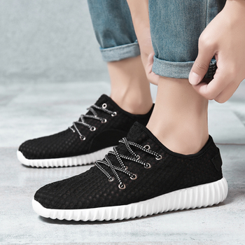 Thestron Male Shoes Adult Male Shoes Black Gray Breathable Sneakers Lightweight Mens Shoes Casual Sneakers 2019 New Comfortable