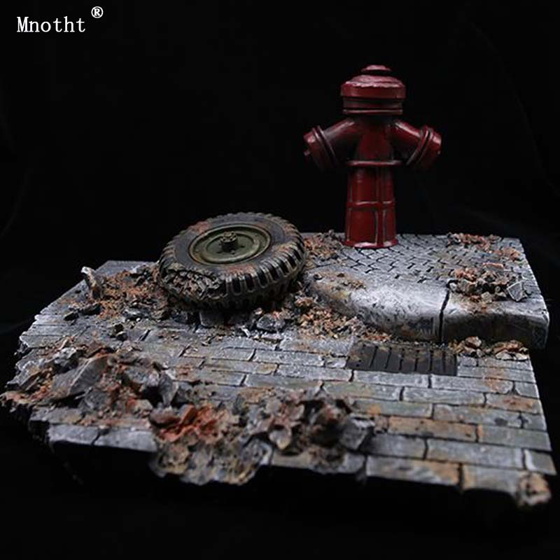 Mnotht 1/6 Scene Accessories GC1604 European Street Ruins Model Scene Platform Toy For 12'' Soldier Action Figure Collection ruins