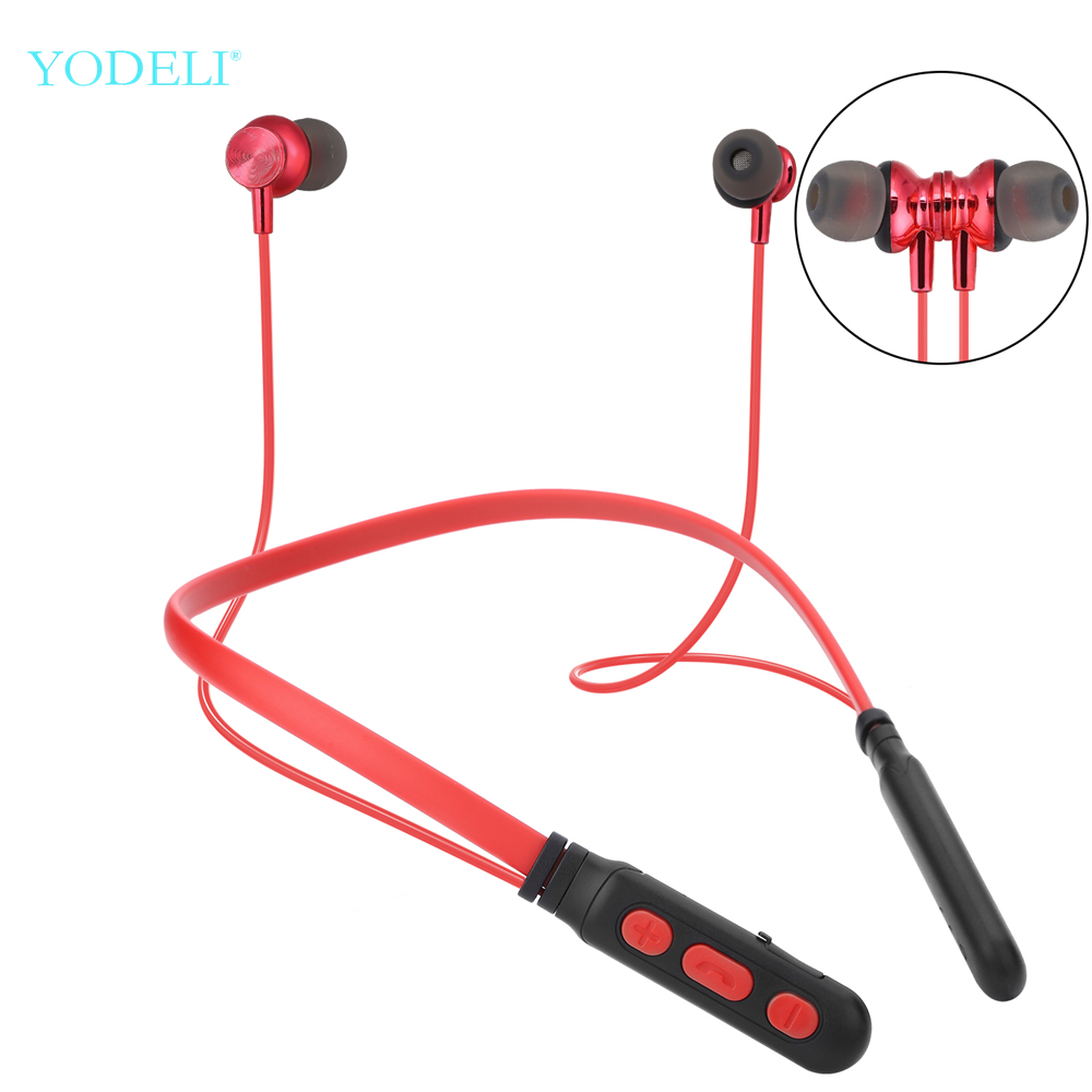 Yodeli Y06 Bluetooth Earphone Sport Wireless Headphones Magnetic Neckband Headset with Microphone for Phone iPhone Xiaomi Huawei