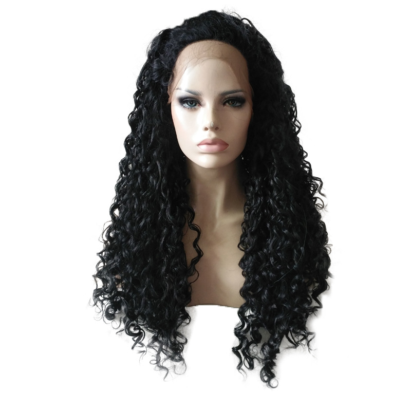 Fiber Wig Lace Front Human Hair Wigs For Black Women Curly Lace Front Long Hair Wigs Brazilian Remy Hair High Temperature high quality byd g6 welcome pedal stainless steel door sill stickers g6 led threshold stickers free shipping 4pcs set
