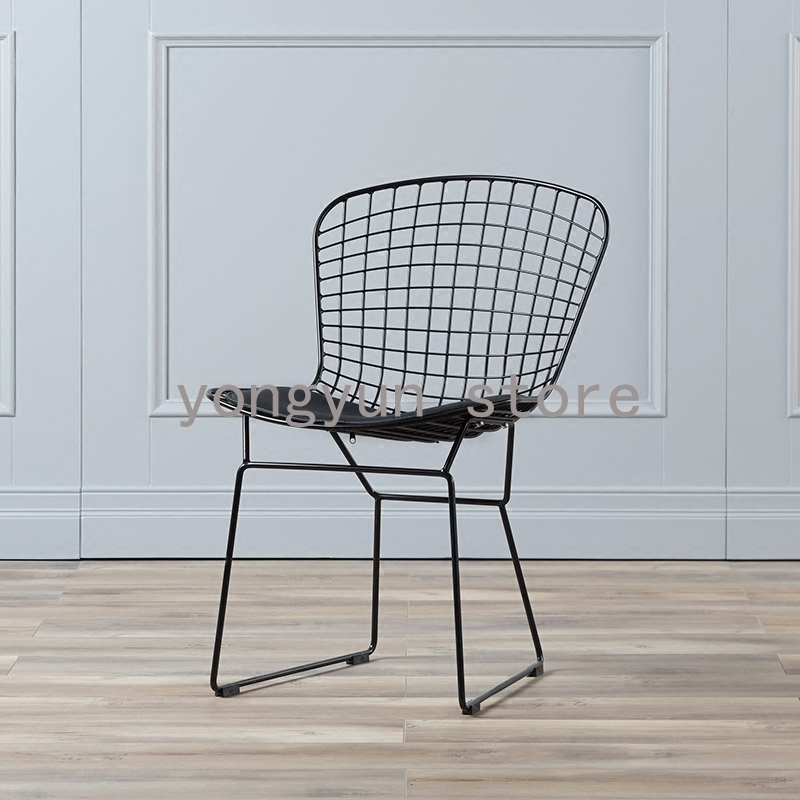 dining room furniture Wire Side Chair Minimalist Modern Iron dining ...