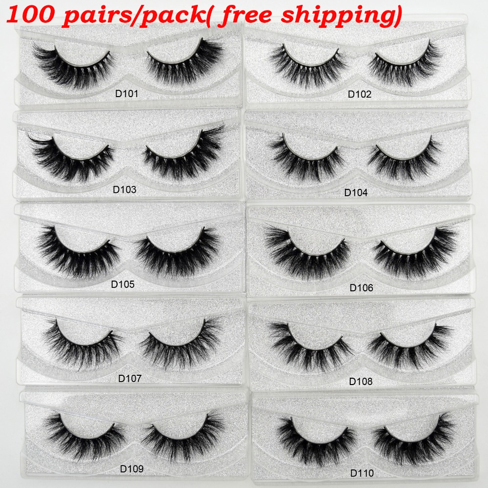 100Pairs Pack Visofree Mink Eyelashes Cruelty Free 3D Mink Lashes Makeup Eyelash Extension Dramatic False Eyelashes