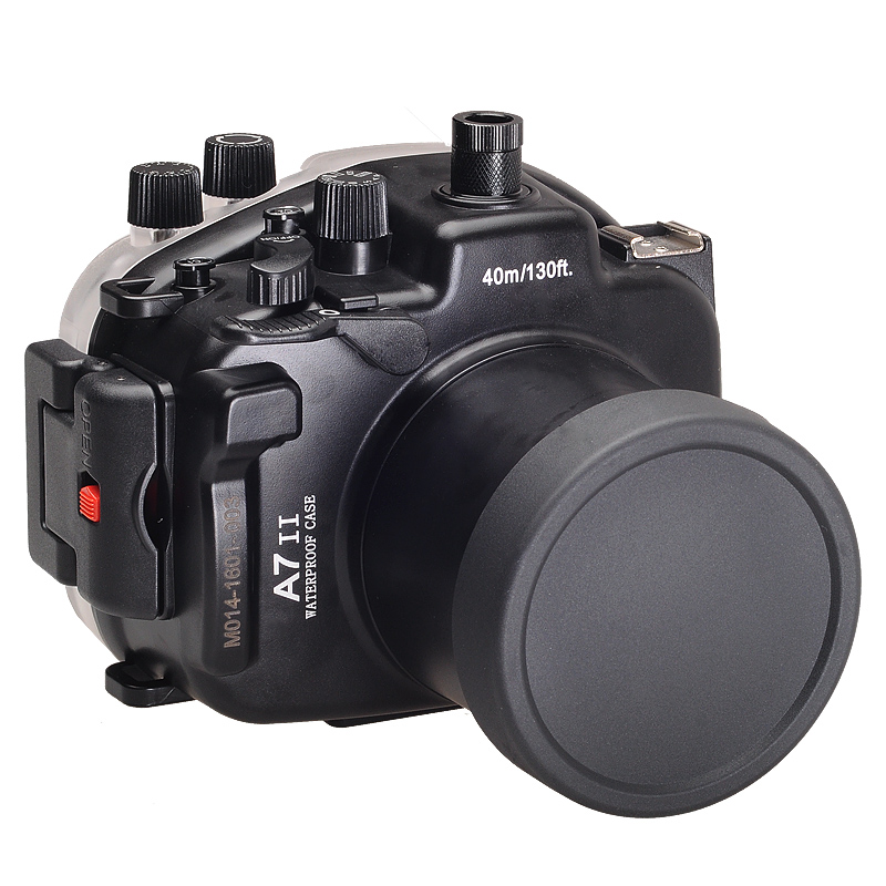 for Sony A7 II A7s A7r Mark II 28-70 ILCE-7 ii 28-70mm A7M2 Meikon 40M 130ft Waterproof Underwater Diving Camera Housing Case 40m 130ft waterproof underwater camera diving housing case aluminum handle for sony a7 a7r a7s 28 70mm lens camera