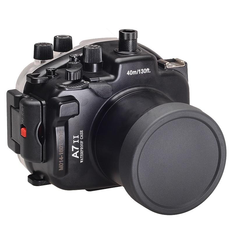 for Sony A7 II A7s A7r Mark II 28-70 ILCE-7 ii 28-70mm A7M2 Meikon 40M 130ft Waterproof Underwater Diving Camera Housing Case