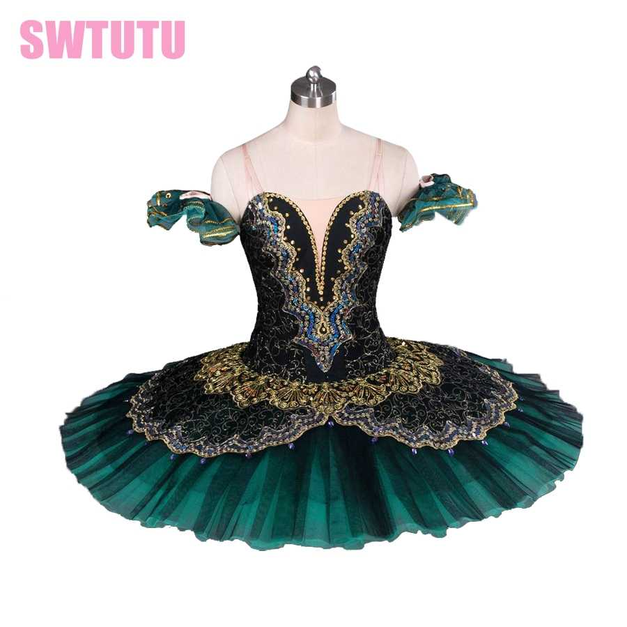 14d231236 Detail Feedback Questions about Adult black green professional tutu ...