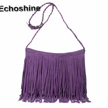 Best Selling Women Fashion Suede Fringe Borla Solo Hombro Bolso Messenger Bag Purse Handbag bolsa de regalo al por mayor femenina