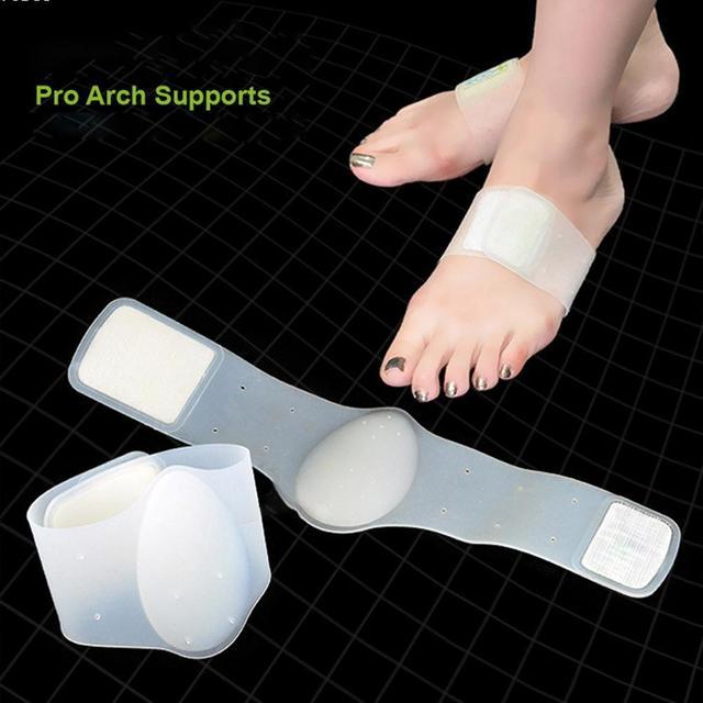 1 Par Ortopédicos Arch Suporte Plano Pé arch suporta Correção Ferramenta de Cuidados Com Os Pés Almofada de Silicone Cinta RP2