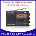 Frete Grátis Tecsun PL-680 High Performance Completa Banda de Rádio Sintonia Digital Estéreo de Rádio AM FM SW SSB