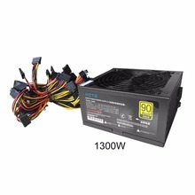 HZTS 1300W Power Supply For 6GPU Eth Rig Ethereum Coin Mining Miner Machine with Low Noise Cooling Fan